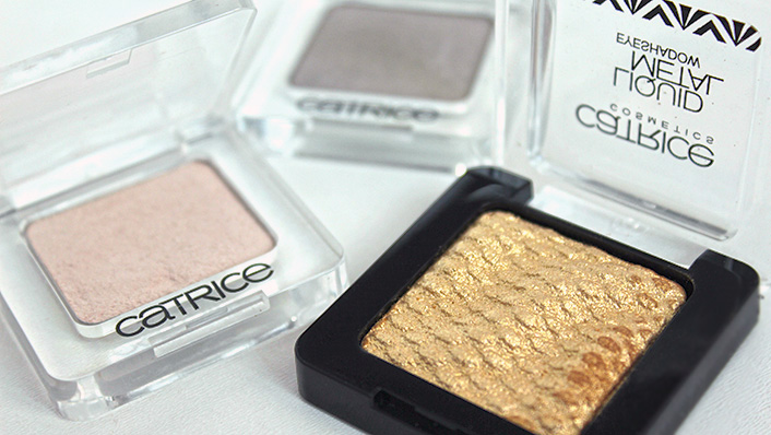 Тени Недели: Catrice Mono Eye Colour 090 Bring Me Frosted Cake, 590 Dorian's Grey, C02 All real Gold