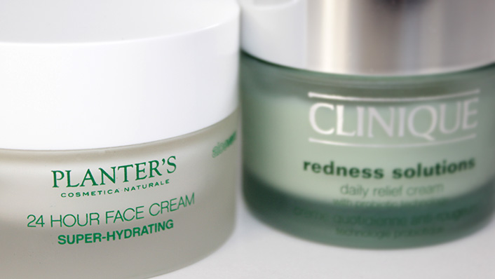 Крем для лица: Clinique Redness Solutions и Planter's Super Hydrating Cream